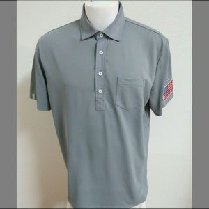 Sz L RLX Ralph Lauren Golf Pocket Usa Men B22 Polo